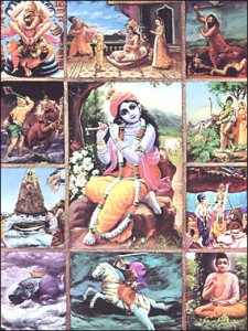 10 Avatars of Vishnu (dasavataram)