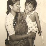 Amma and me - baby picture